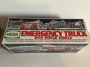 2005 Hess Emergency Fire Truck With Rescue Vehicle.