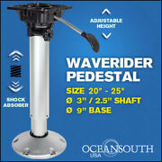 Shock Absorbing Adjustable Waverider Boat Seat Pedestal 20and039and039 Andndash 25and039and039