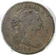 1798 S-158 R-4 Pcgs Vf 25 Draped Bust Large Cent Coin 1c