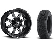 20 20x10 D610 Maverick Black Wheels 33 Fuel At Tire Package 6x5.5 Toyota Chevy