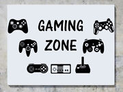 Gaming Zone Controllers Xbox Playstaion Nintendo Pad Wall Decal Sticker Picture