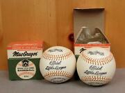 Vintage Pair Of 1960s Macgregor Official Little League Baseballs New In Box B76c