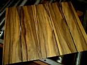 Four 4 Pieces Thin Kiln Dried Sanded Exotic Black Limba 24 X 6 X 1/4 Wood