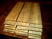 Ten 10 Thin Kiln Dried Sanded Curly Maple 12 X 3 X 1/4 Lumber Wood