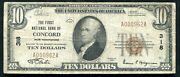 1929 10 The First Nb Of Concord Nh National Currency Ch. 318