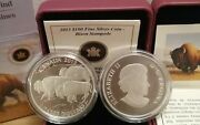 100 2013 Bison Stampede 1oz Pure Silver Proof Coin Canada