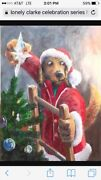 Ivan Clarke Lonely Dog Giclee Houndside Christmas From Celebration Series