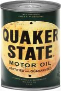 Quaker State Motor Oil Can Reproduction Gas Station Metal Sign - 12 X 18 Rvg269