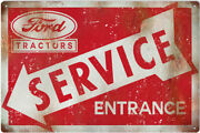 Ford Service Tractor Entrance Reproduction Country Metal Sign - 18 X 30 Rvg122