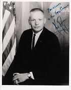 Neil Armstrong. Apllo 11 Astronaut, Pilot, Educator. Bw,8x10, Inscribed Photo