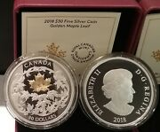 2018 Golden Maple Leaf 30 2oz Pure Silver Proof 50mm Coin Canada