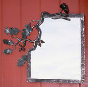 Bird On A Branch Mirror By Frank Jackson Forge