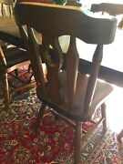 8 Pine Dining Chairs Country Style Antique Reproduction Light Oak Finish