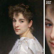 24wx30h Gabrielle Cot 1890 By William Adolphe Bouguereau - Choices Of Canvas