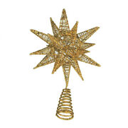 Christmas 3d Wired Star Tree Top Gold 11-1/2-inch