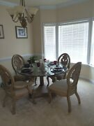 Living Room Couch Endandnbspand Coffee Table Dining Table/w Glass Top With 4 Chairs