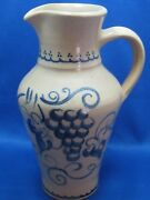 """8"""" Tall Antique German Hand Made/Painted Vase/ Jar w/ Handle No Marks"""
