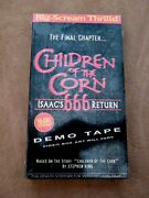 New Sealed Children Of The Corn Isaacand039s 666 Return Final Chapter Demo Tape Vhs