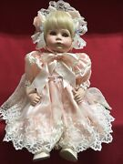Thelma Resch Young Girl Meagan 189/2000 Porcelain Doll Silk Dress White Lace