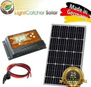 100 Watt Mono Solar Panel Kit With Charge Controller And Wire Kit Monocrystalline
