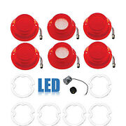 64 Chevy Impala Led Rear Tail And Back Up Light Lens W/ Gasket And Flasher Set Of 6