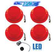 64 Chevy Impala Bel Air Biscayne Red Led Tail Light Lens And Flasher Set Of 4
