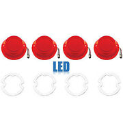 64 Chevy Impala Bel Air Biscayne Red Led Tail Light Lens And Gasket Set Of 4