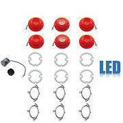 62 Chevy Impala Led Tail And Back Up Light Lenses W/ Gaskets, Trim And Flasher Set
