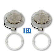 60 Chevy Impala Clear Led Rear Back Up Reverse Light Lenses And Gaskets Pair 1960