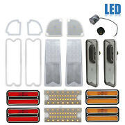69-70 Chevy And Gmc Truck Led Clear Tail Back Up Side Marker Park Light Lenses Set