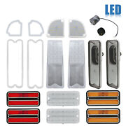 67-68 Chevy And Gmc Truck Led Clear Tail Back Up Side Marker Park Light Lenses Set