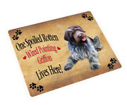 Spoiled Wirehaired Pointing Griffon Dog Tempered Cutting Board Db1619