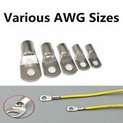 New Tinned Copper Cable Lugs Ring Terminals Various Awg Sizes Welding / Battery