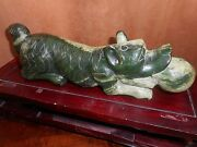 An Extraordinary Chinese Jade Carving Of A Dog