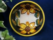 DERUTA ITALY Tuscan Sunflowers OLIVE OIL DIPPING Bowl ~ Made in Italy