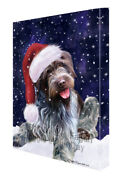 Let It Snow Christmas Wirehaired Pointing Griffon Dog Canvas Wall Art T86
