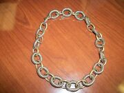 David Yurman Xl Extra-large Oval Link Gold And Silver Chain Necklace 3950