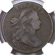 1803 Nc-1 R5+ Ngc Vg10 Sm Date Sm Frac Draped Bust Large Cent Coin 1c