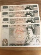 Old Fifty Pound Note 4 X Andpound50 A01 Prefix 1981 Very Rare