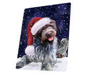 Let It Snow Wirehaired Pointing Griffon Dog Tempered Cutting Board Large Db43