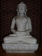 Fine White Marble Buddha From India