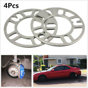 4x Silver Alloy Aluminum Car Auto Wheel Spacers Adaptor Shims Plate 4/5 Stud 5mm