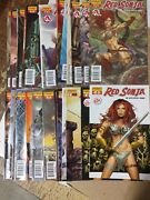 Alternative Comic Lot Red Sonja Comic Lot Of 31 From 0 1-47 Vf+ Bagged