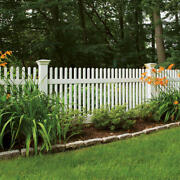 40' Of 4' High Pvc Vinyl Louisville Style Victorian Picket Fence Straight Top
