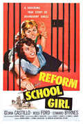 1957 Reform School Girl Vintage Movie Poster Print Style A 24x16 9 Mil Paper