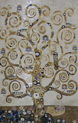 Painting Tree Of Life Tall Miniature 55x87 Natural Tile Marble Mosaic Fl871