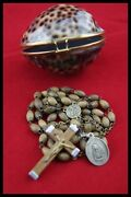 Anddagger Mater Dolorosa / Lady Of Sorrows Blessed Rosary Olive Wood Beads Jerusalem Anddagger