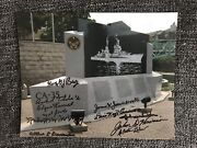 11 Uss Indianapolis Survivors Signed 8x10 Photo Wwii Autographed