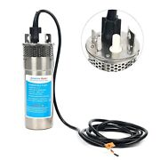 12v Dc Solar Batter Stainless Shell Submersible 3.2gpm 10a Deep Well Water Pump