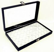 5 Glass Top White 50 State Quarter Coin Collectors Showcase Display Cases Boxes